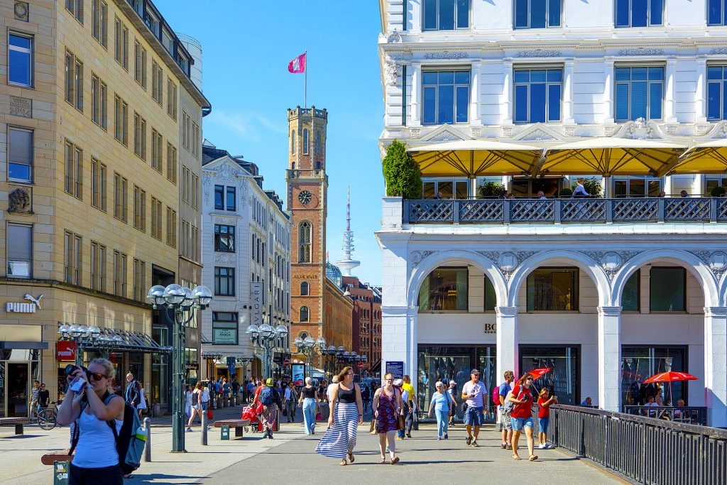 Hamburg Innenstadt, an den Alsterarkaden