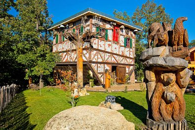 Sachsen-Anhalt, Harz, Thale, Hexenhaus am Hexentanzplatz