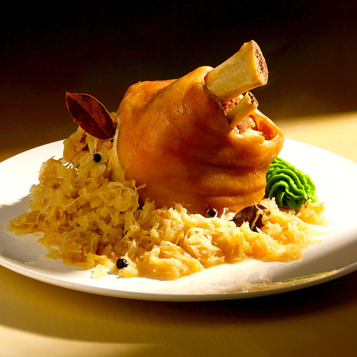 Food Norddeutschland, Eisbein mit Sauerkraut.