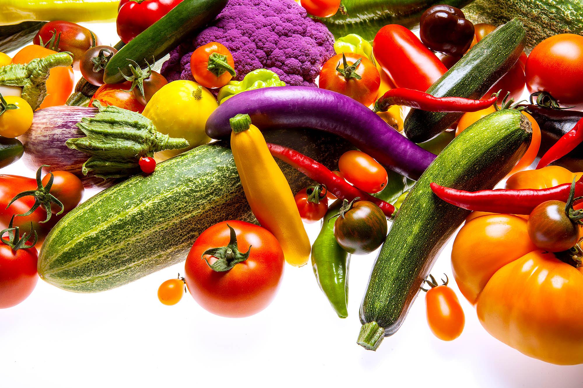 Food Gemüse, bunt, buntes, Lila,grün und rot