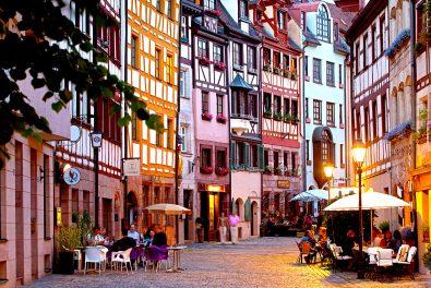 Bayern,Franken,Stadt Nürnberg. Nürnberger Altstadtgasse,