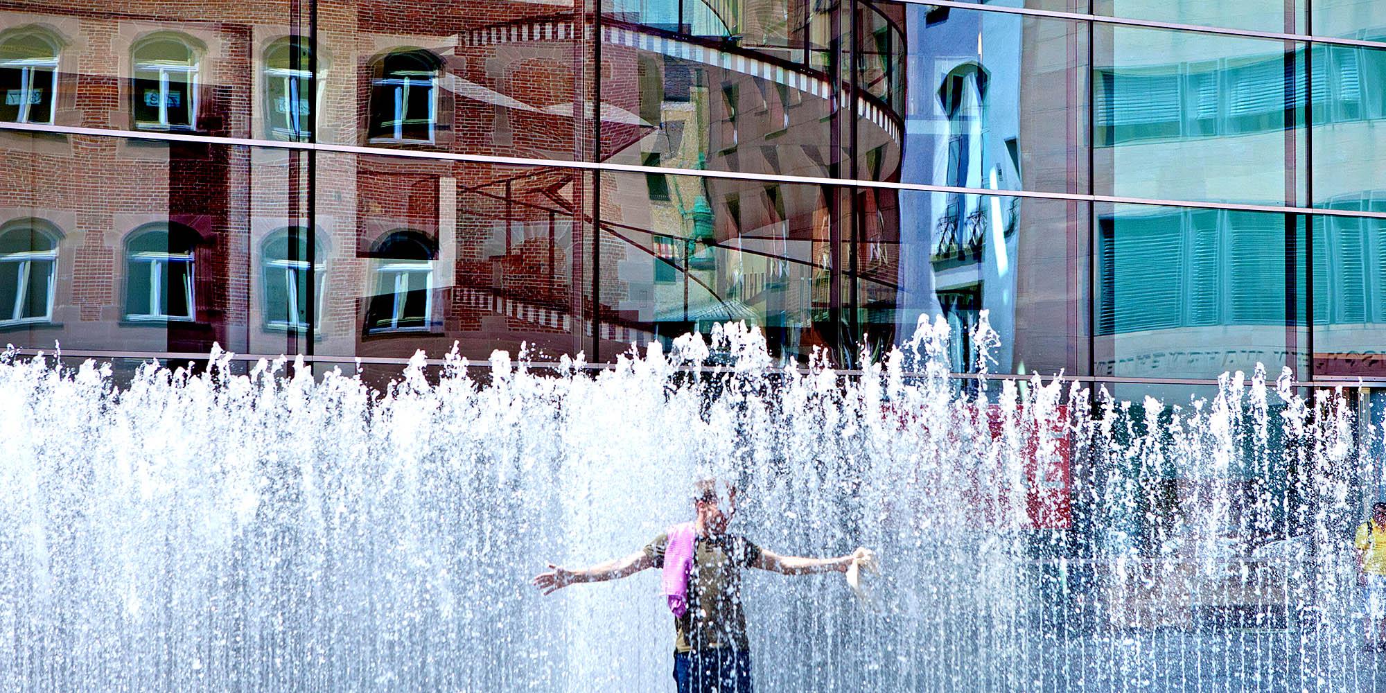 Bayern,Nürnberg City. Brunnen