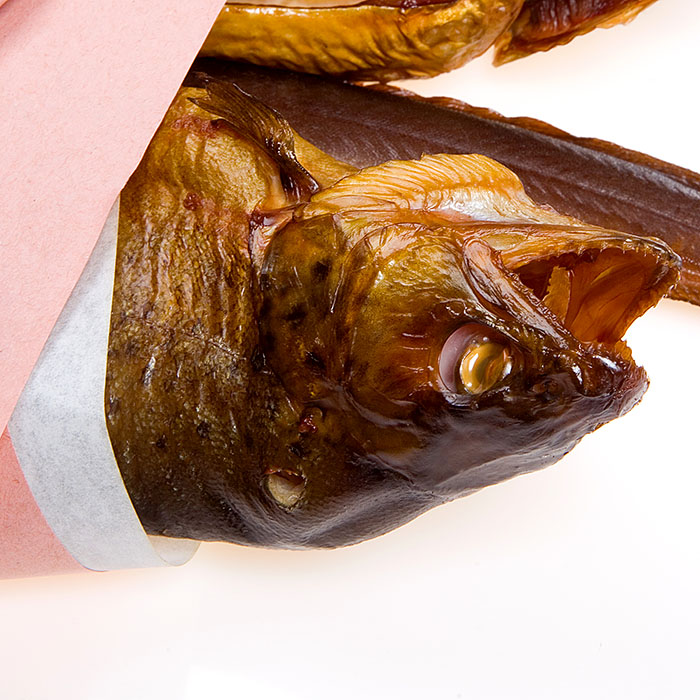 Food, Norddeutschland. Geräucherter Fisch aus Schleswig-Holstein