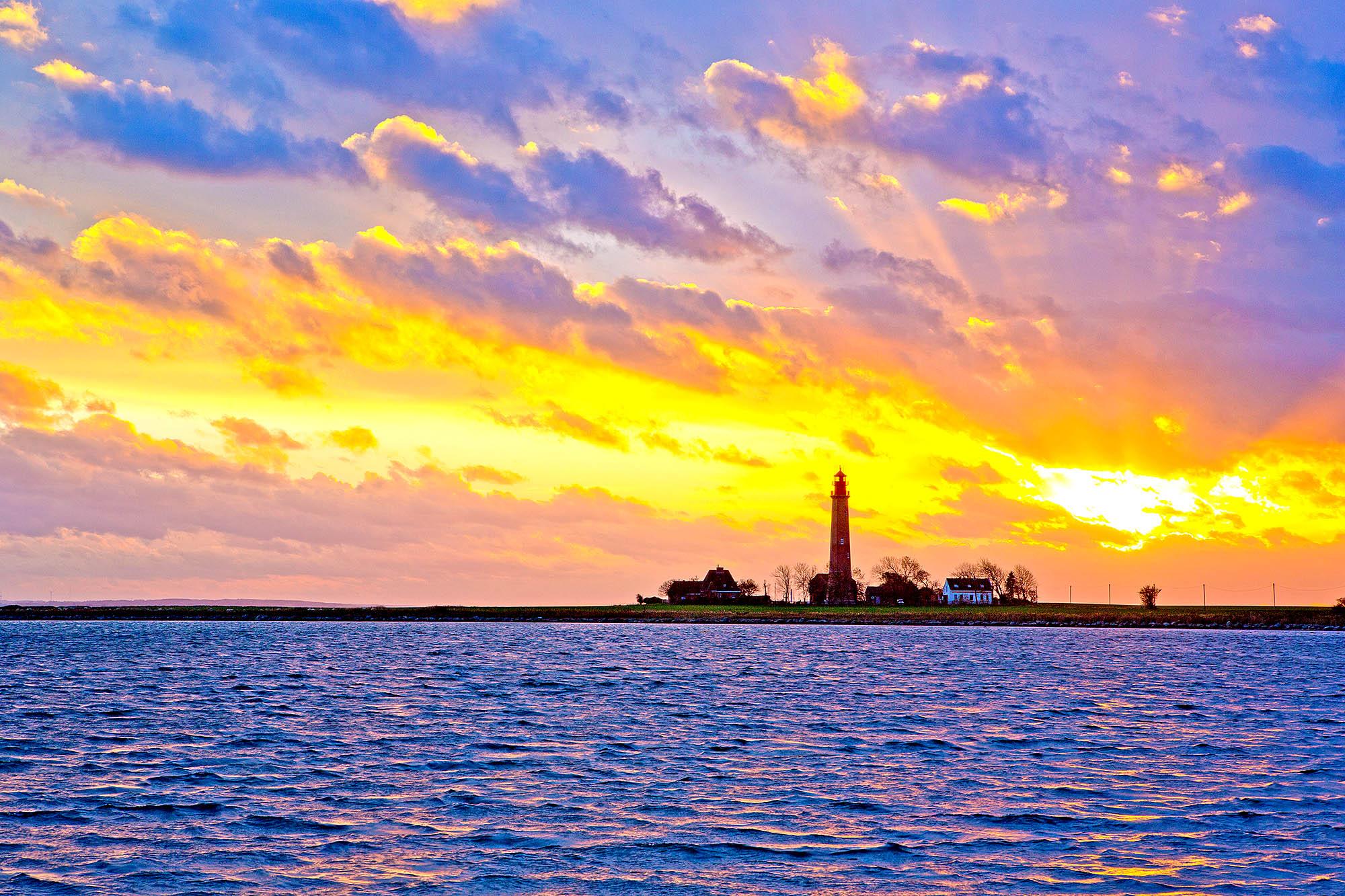 Schleswig-Holstein, Ostseeinsel Fehmarn, Leuchturm Fluegge, Fluegger Leuchtturm. Auch wegen seiner Form Fehmanrner Spargel genannt.