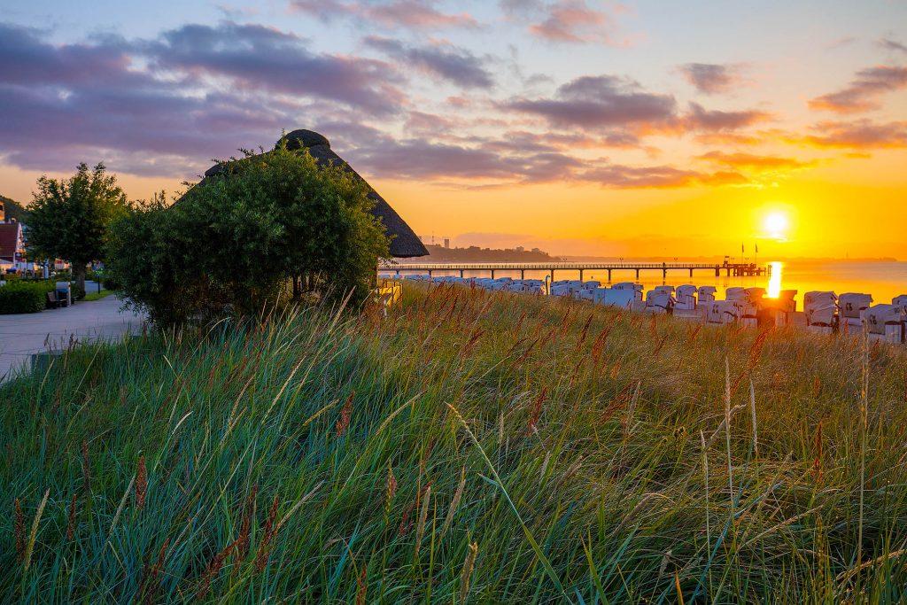 Sonnenaufgang am Strand von Hafffkrug.
